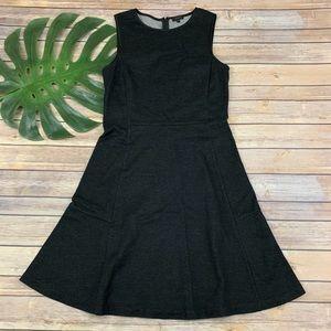 Theory Nikay Jackson dark charcoal gray dress